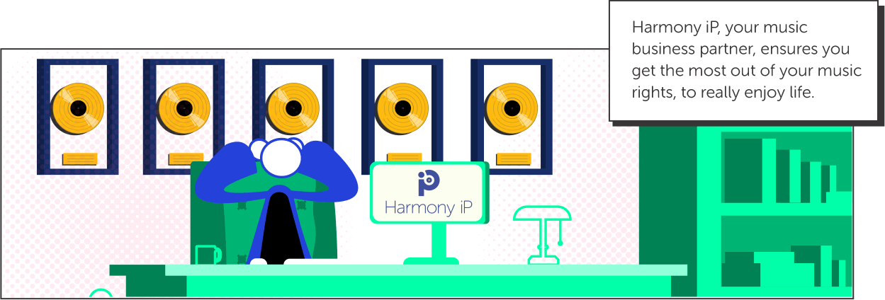 Harmony iP, your music business partner, ensures you get the most out of your music rights, to really enjoy life.